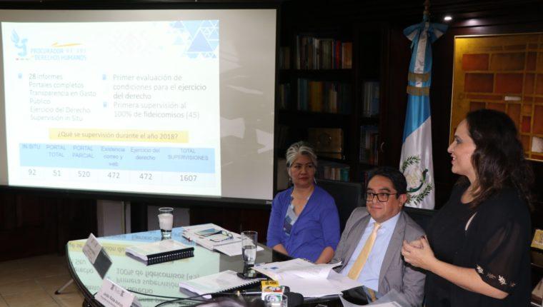 La Secretaria de Acceso a la Información de la PDH debe emitir anualmente un informe de cumplimiento de la ley, luego de un mes de recibir los reportes que entregan las entidades obligadas a publicar. Foto Prensa Libre: PDH