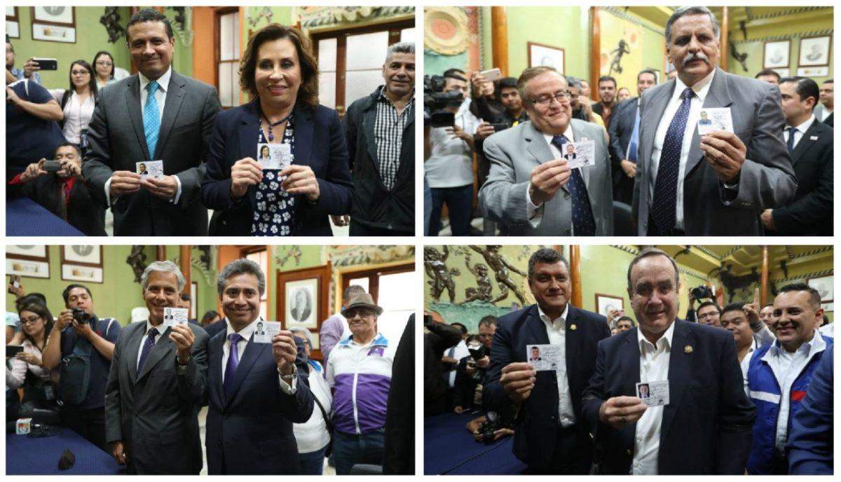 TSE entrega credenciales a cuatro binomios presidenciales