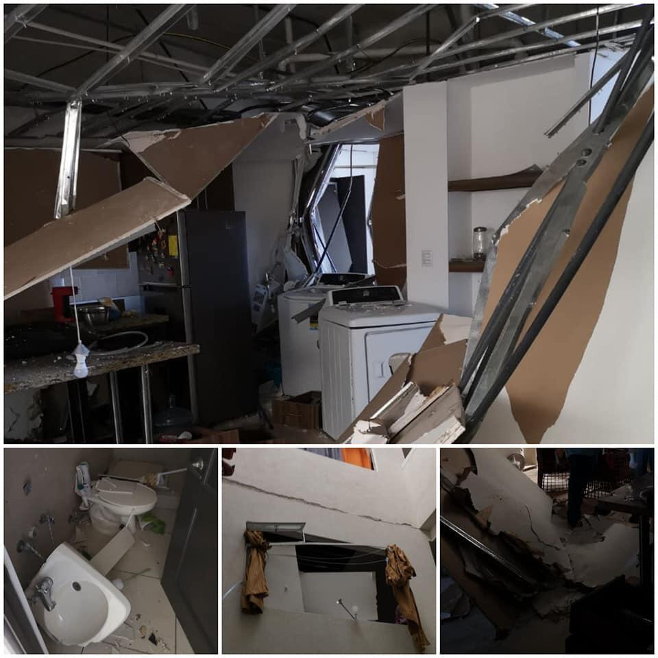 Así quedó el apartamento dañado por la explosión en un edificio de apartamentos de la zona 11. (Foto Prensa Libre: Cortesía)