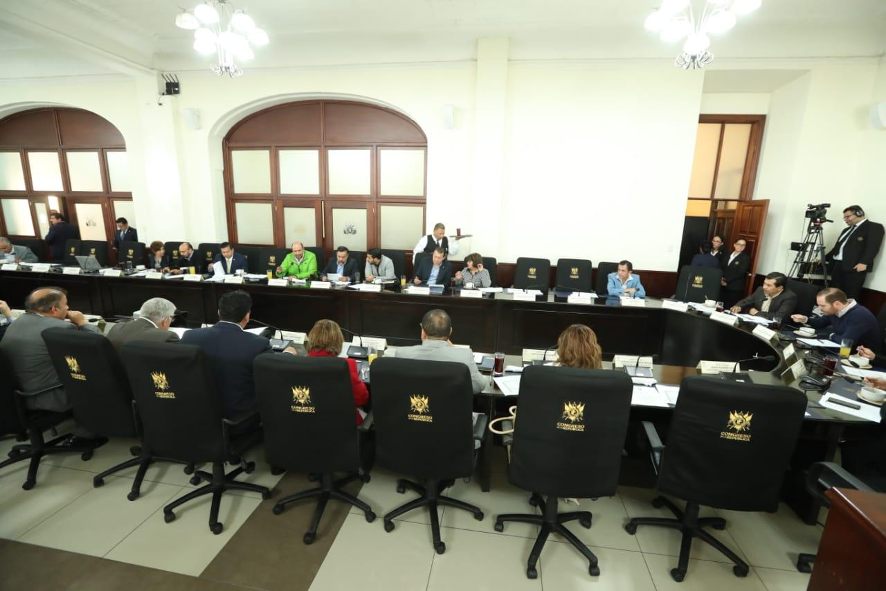 Los jefes de bloques acordaron celebrar tres sesiones plenarias durante esta semana. (Foto Prensa Libre: Esbin García)