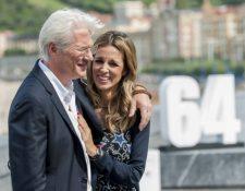 Richard Gere y Alejandra Silva tuvieron a un bebé (Foto Prensa Libre: AFP).