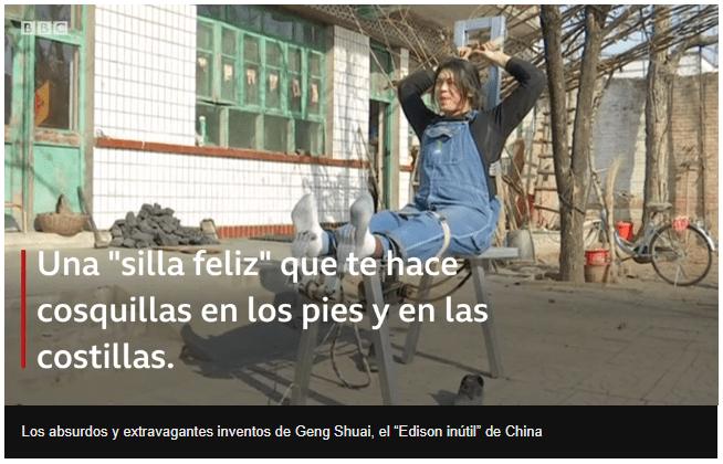 """Geng Shuai, el """"Edison inútil"""" de China que se ha convertido en una sensación en internet"""