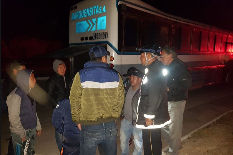 Una unidad de Transportes Marquensita fue asaltada la noche del lunes, en el Km 93 de la Ruta Interamericana. (Foto Prensa Libre: Cortesía)