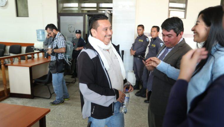 El exedil Jorge Rizzo, luego de ser absuelto por el tribunal. (Foto Prensa Libre: Esbin García)
