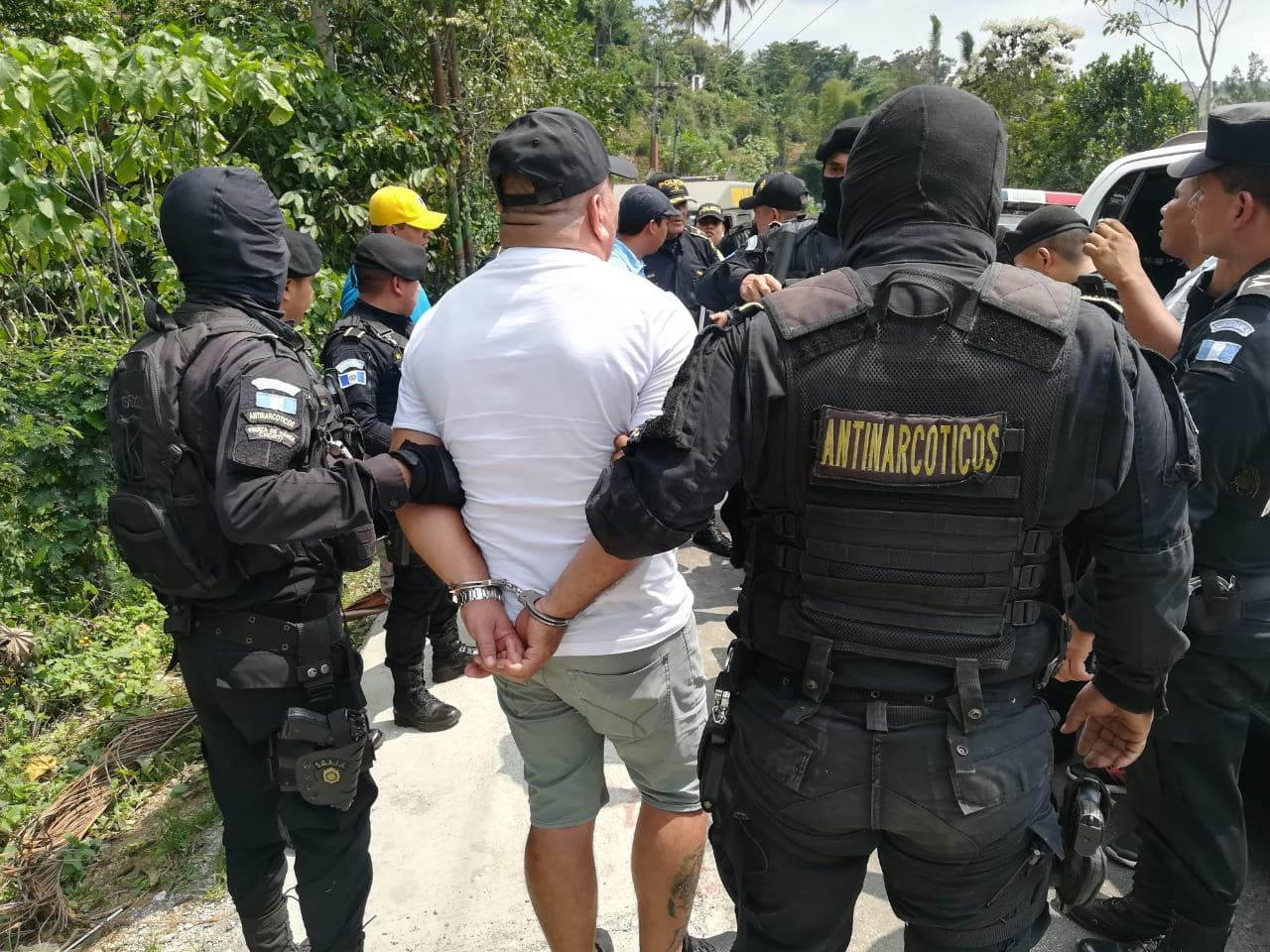 La Policía Nacional Civil reportó la captura de Rony Alexánder Ortiz López, hermano del narcotraficante Juan Ortiz López. (Foto Prensa Libre: Cortesía)