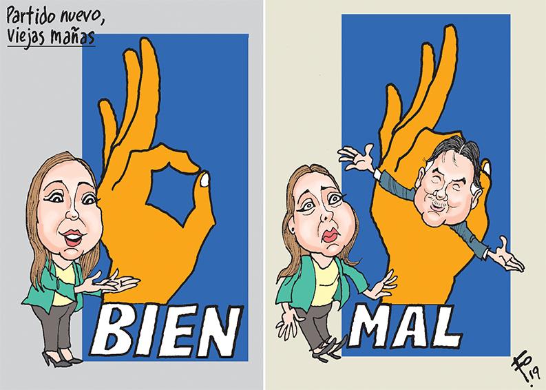 Personajes: Andrea Villagrán y Alfonso Portillo.