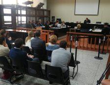 La audiencia del caso Infiernito se realizó en el Juzgado de Mayor Riesgo A. (Foto Prensa Libre: Érick Ávila)