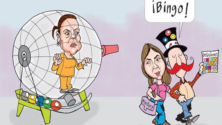 Personajes: Roxana Baldetti y Marllory Chacón.