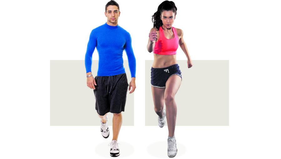 El entrenamiento cardiovascular puede incluir una caminata o una carrera porque ambas benefician su salud. (Foto Prensa Libre: Servicios)