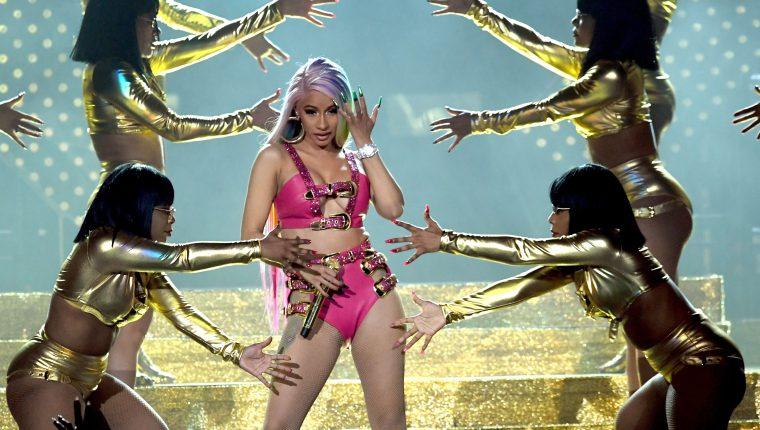 Cardi B compite por cinco Grammys. (Foto Prensa Libre: AFP)