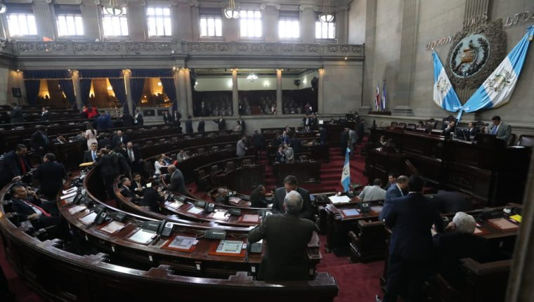 El Congreso aprobó el primer decreto de este año el cual es la autorización para firmar un convenio de préstamo con el BIRF.  (Foto Prensa Libre: Erick Ávila)