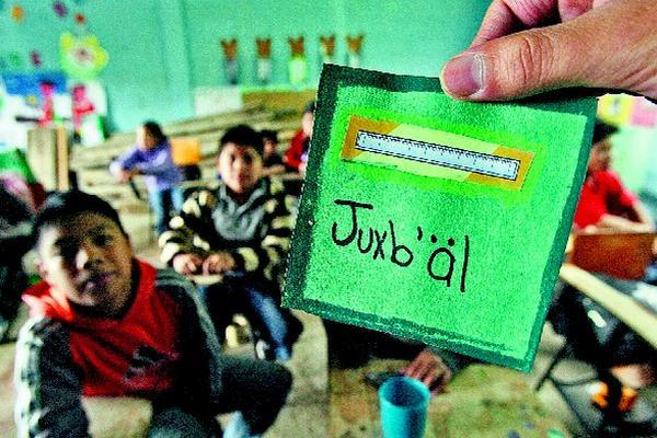 El programa del Mineduc busca formar a docentes en idiomas mayas, garífuna y xinca. (Foto Prensa Libre: Hemeroteca PL)