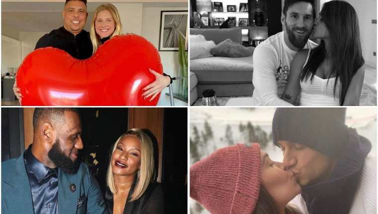 Las grandes figuras del deporte dedicaron un mensaje de amor a sus parejas en el Día de Cariño. (Fotos Redes sociales).