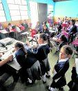 Estudiantes de distintos niveles de todos los sectores se someterán este año a varias evaluaciones. (Foto Prensa Libre: Hemeroteca PL)