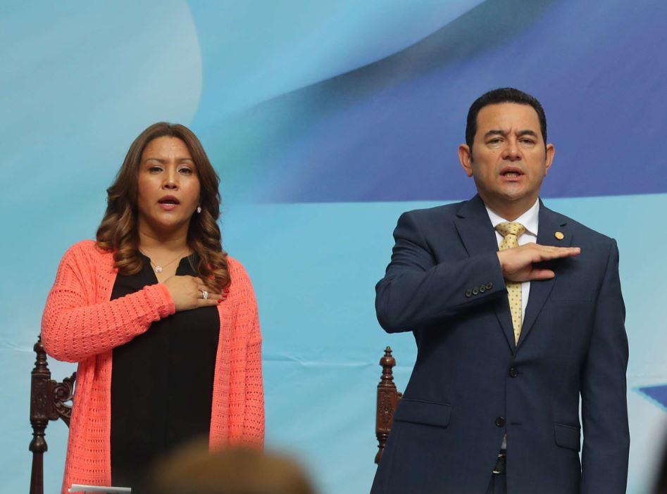 Jimmy Morales y Patricia Marroquín de Morales. (Foto Prensa Libre: Hemeroteca PL)