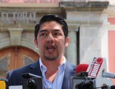 Juan Carlos Eggenberger denunció extorsiones y presiones contra su candidatura. (Foto Prensa Libre: Érick Ávila)