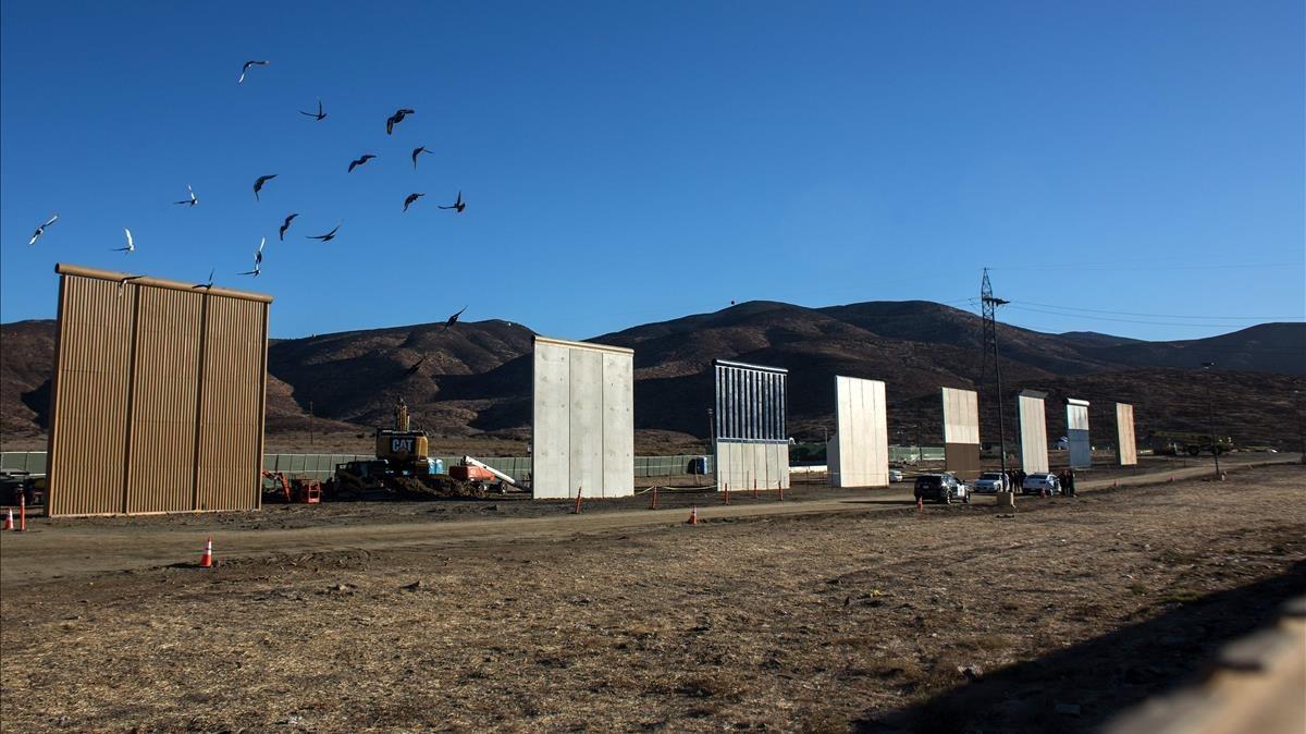 Los prototipos de muro fronterizo  presentados a Trump. (Foto: Hemeroteca PL)