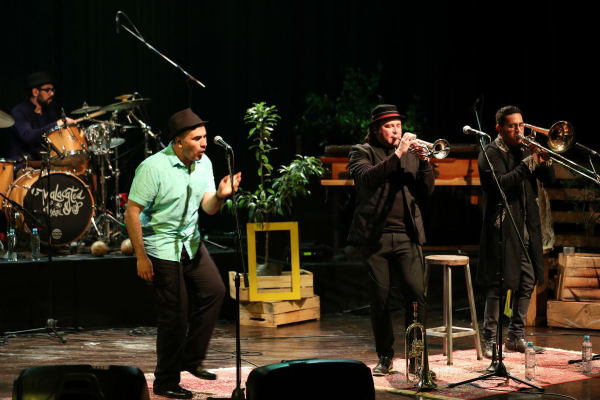 El grupo guatemalteco Malacates Trébol Shop ofreció un concierto el 28 de noviembre de 2018 en el Teatro Dick Smith del IGA en el formato NatGeo Sessions. (Foto Prensa Libre: Keneth Cruz)