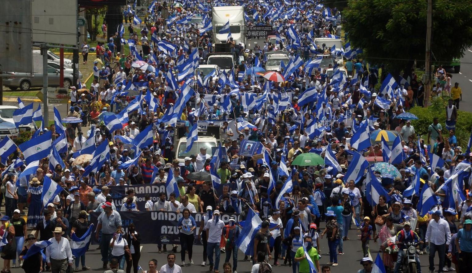 Protestas, enfrentamientos y violencia han sido constantes en Nicaragua desde abril del 2018 con la crisis sociopolítica. (Foto, Prensa Libre: Hemeroteca PL).