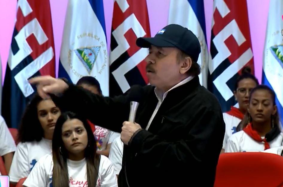 """Daniel Ortega dijo que quiere un diálogo en el que no haya """"desestabilizadores"""". (Foto: Captura de pantalla/Canal 4 nicaragüense)."""