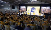 El PAN proclamó a Roberto Arzú como candidato a la presidencia. (Foto Prensa Libre: Dulce Rivera)