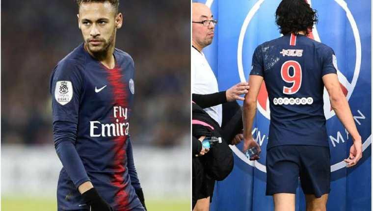 Neymar y Cavani serán los grandes ausentes en el partido contra el Mánchester United. (Foto Prensa Libre).