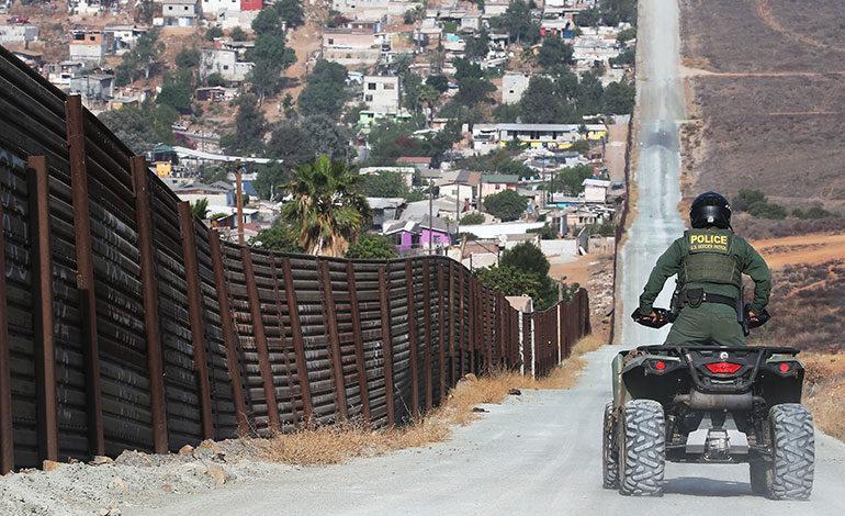 Frontera EE. UU. - México. (Foto Prensa Libre: AFP).
