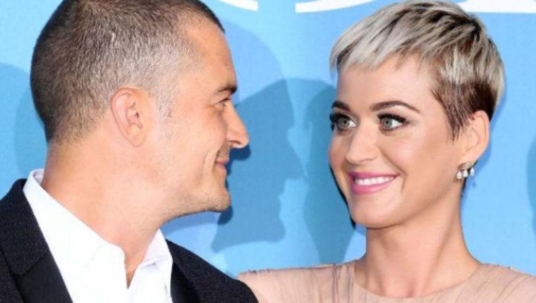 Orlando Bloom y Katy Perry se comprometieron. (Foto Prensa Libre: AFP)