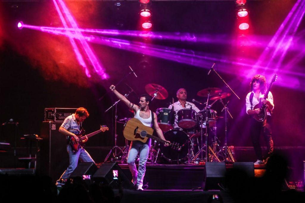 Los músicos de Dios Salve a La Reina demostraron su pasión por la banda británica Queen.