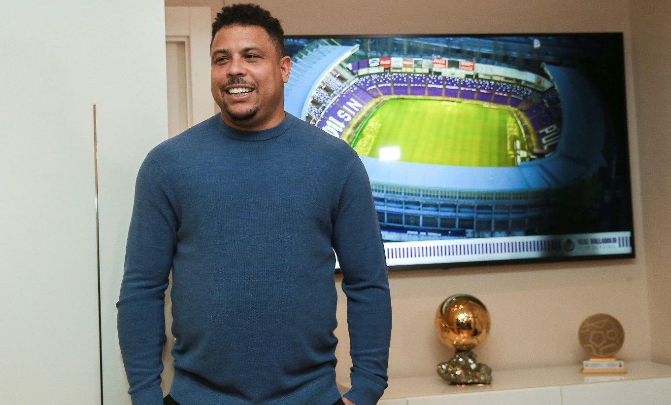 El brasileño Ronaldo Nazário, presidente del Real Valladolid, habla de sus plantes a futuro. (Foto Prensa Libre: AFP).