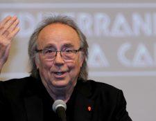 Joan Manuel Serrat dará un show en el Centro Cultural Miguel Ángel Asturias. (Foto Prensa Libre: EFE)