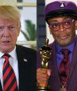 Donald Trump responde luego de haberse sentido aludido en el discurso que Spike Lee pronunció en los Premios Óscar. (Foto Prensa Libre: AFP)