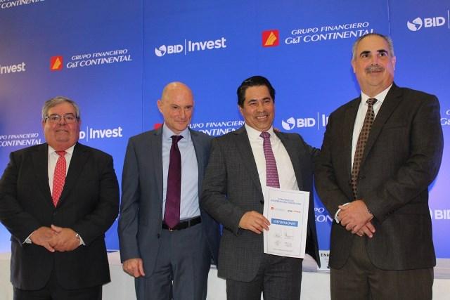 G&T Continental firmó con  BID INVEST por US$75 millones