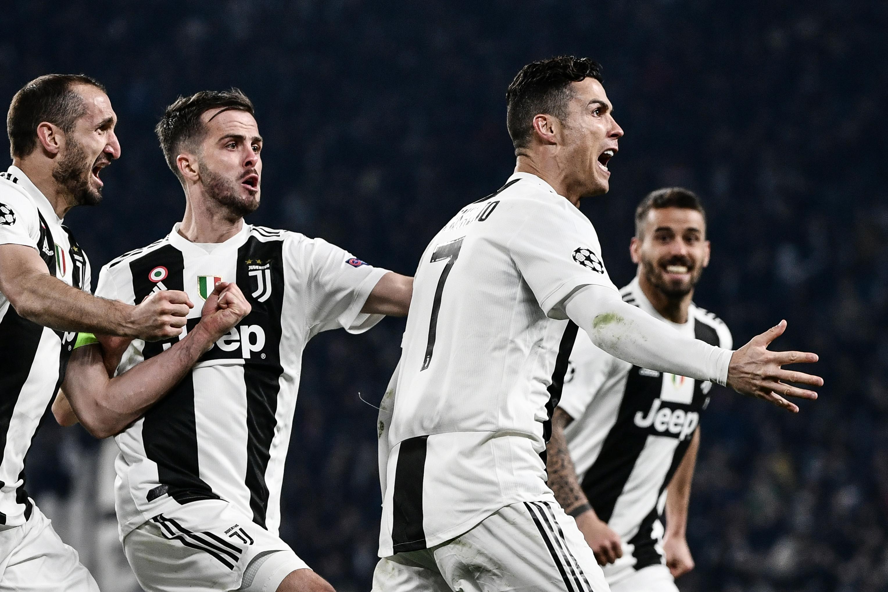 Cristiano Ronaldo fue el héroe de la Juventus en la remontada frente al Atlético de Madrid. (Foto Prensa Libre: AFP)