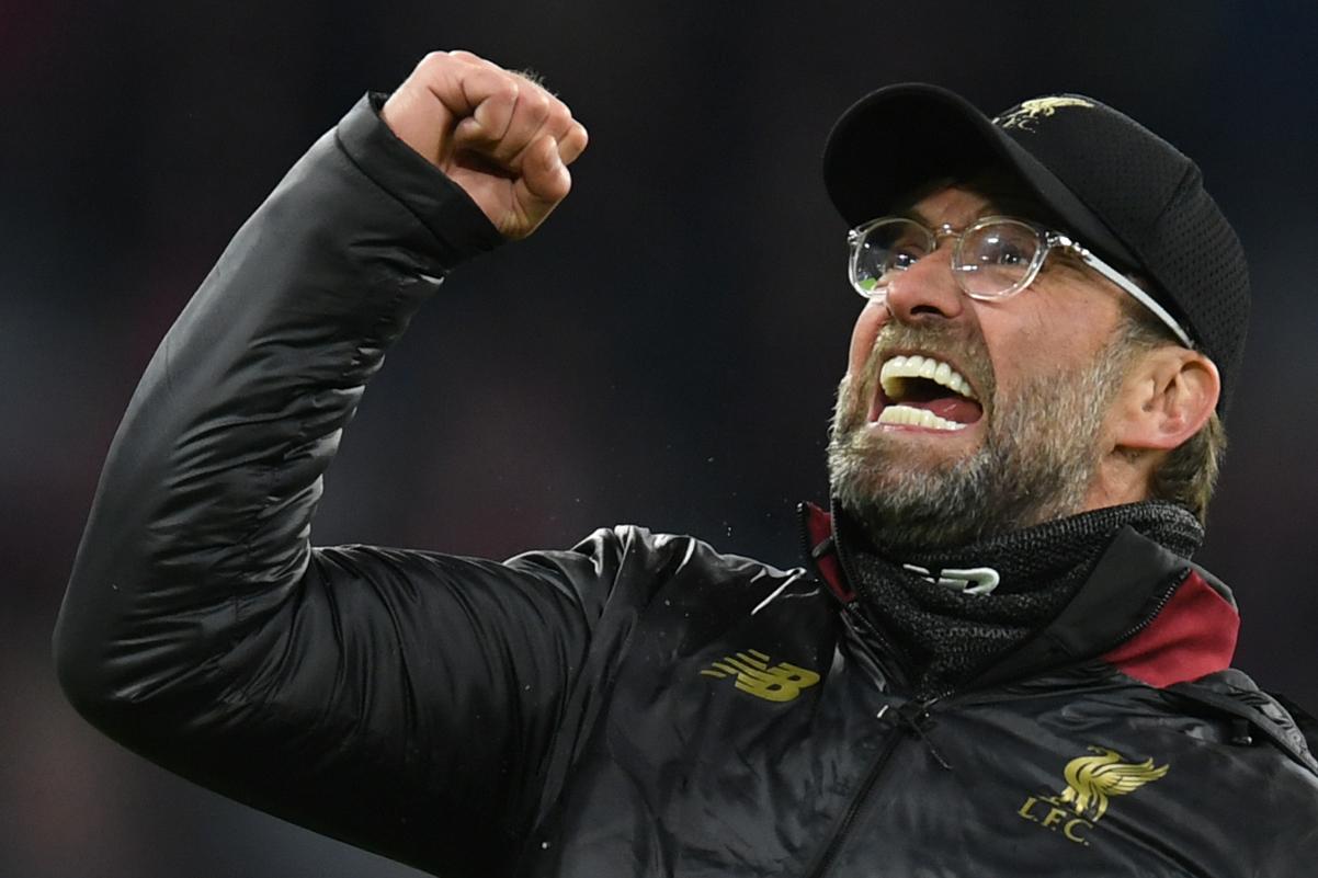 Jürgen Klopp celebra después de la clasificación del Liverpool a los cuartos de final. (Foto Prensa Libre: AFP