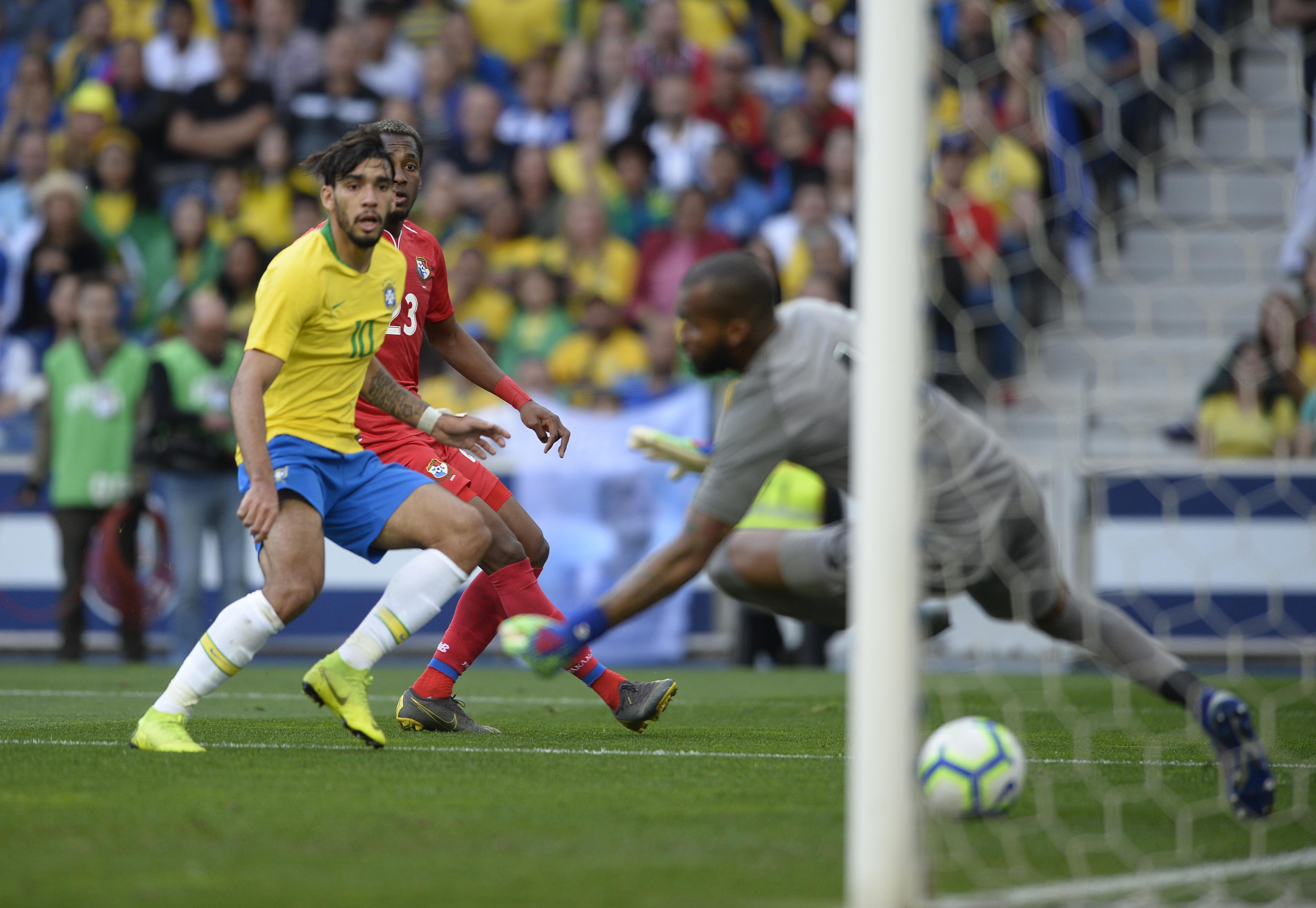 Lucas Paquetá anotó el único tanto de la selección brasileña. (Foto Prensa Libre: AFP)