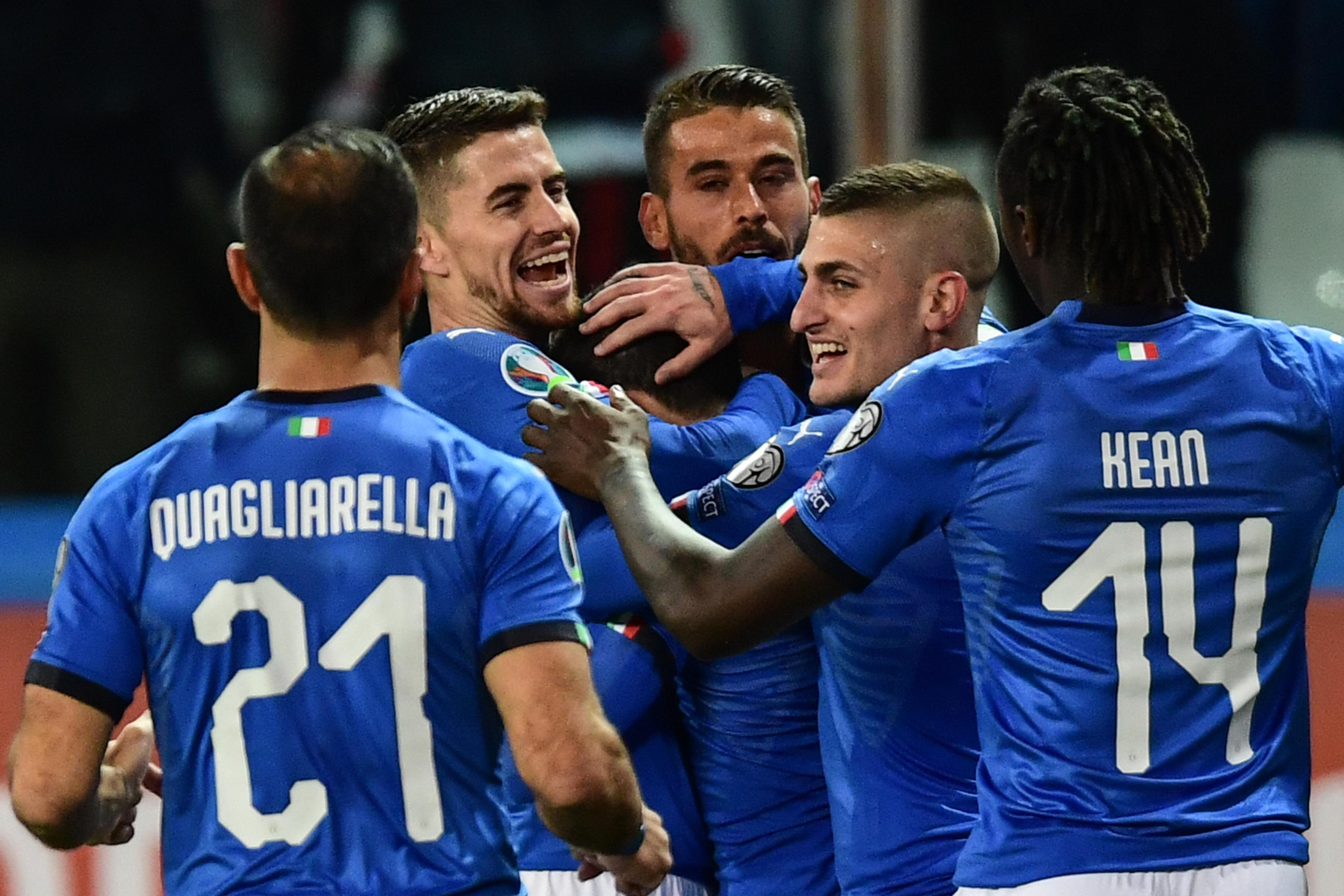 Stefano Sensi fue uno de los anotadores de la Italia en la victoria contra Liechtenstein. (Foto Prensa Libre: AFP)