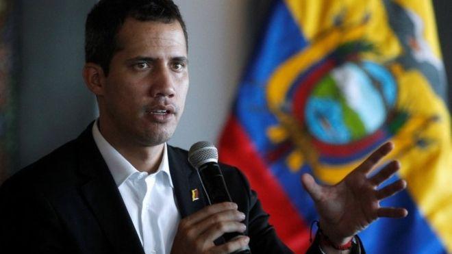 Juan Guaidó salió de Venezuela el pasado 23 de febrero y desde entonces ha hecho una gira por varios países de Sudamérica. REUTERS