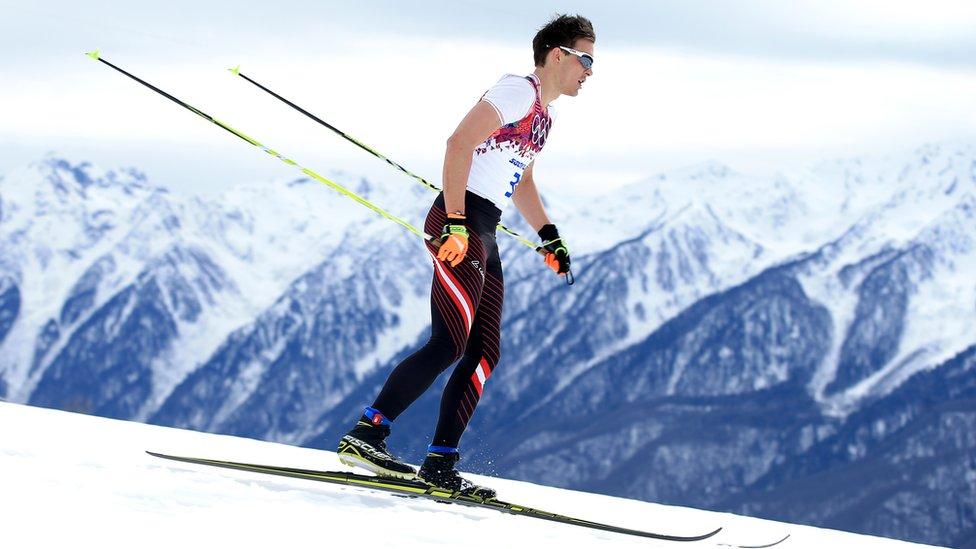 Max Hauke, fotografiado en los Juegos Olímpicos de Sochi 2014, fue grabado extrayéndose sangre durante Campeonato Mundial de Esquí Nórdico en Austria.