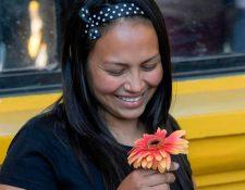 Alba Rodríguez fue una de las tres salvadoreñas liberadas el jueves. AFP