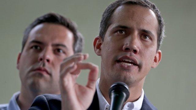 """Guaidó calificó de """"secuestro"""" la captura de su colaborador más cercano y repitió que Venezuela vive bajo """"una dictadura"""". EPA"""