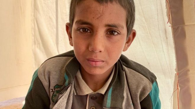 Niños como Hamza Jasim al Ali están entre los habitantes que apoyaban a Estado Islámico en su último espacio de dominio.