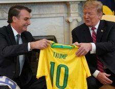 Trump y Bolsonaro se reunieron este martes en la Casa Blanca. GETTY IMAGES