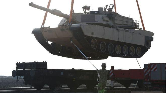 El M1-Abrams es el tanque de guerra más utilizado por el Ejército de Estados Unidos y por el Cuerpo de Marines. AFP