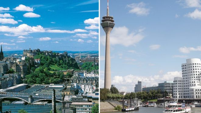 ¿Edimburgo o Düsseldorf? ¿Encuentras la diferencia? GETTY IMAGES
