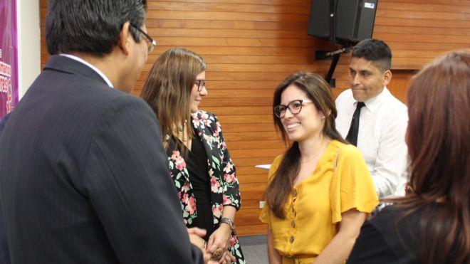 Noelia Llantoy recibió las disculpas públicas del estado peruano el martes. CENTRO DE DERECHOS REPRODUCTIVOS