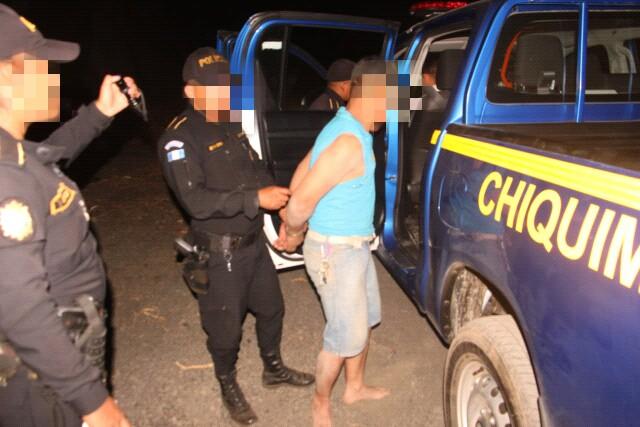 Hombre detenido por atentar contra alcalde de Ipala, Chiquimula. (Foto Prensa Libre: PNC)