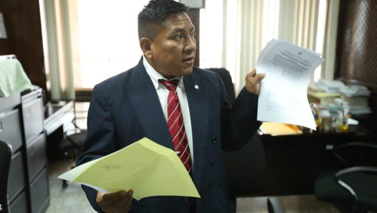 Pablo Xitumul de Paz, presidente del Tribunal de Mayor Riesgo C. (Foto Prensa Libre: Esbin García)