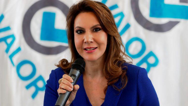 Zury Ríos Sosa, candidata presidencial del Partido Valor. (Foto Prensa Libre: Hemeroteca PL)