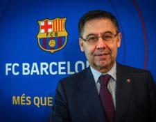 El presidente del FC Barcelona, Josep María Bartomeu, asegura que no hay nada concreto con Griezmann, Vidal ni Neymar. (Foto Prensa Libre: EFE)